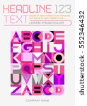 abstract geometric font design  ... | Shutterstock .eps vector #552346432