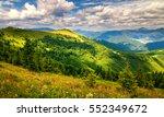 sun lit landscape with flowery...   Shutterstock . vector #552349672