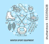 winter sports banner  equipment ... | Shutterstock .eps vector #552350638