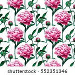 Seamless Pattern With Peony...
