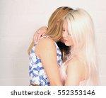 a pair of blonde same sex...   Shutterstock . vector #552353146