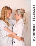 a pair of blonde same sex... | Shutterstock . vector #552353266
