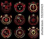 set of vector vintage emblems...   Shutterstock .eps vector #552353425