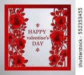 valentines day vintage...   Shutterstock .eps vector #552353455