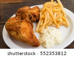 Fried Chicken And French Fries...