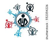 successful businessman creative ... | Shutterstock .eps vector #552354226