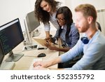 programmers cooperating at  it... | Shutterstock . vector #552355792