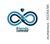 infinity sign with two hands... | Shutterstock .eps vector #552356785