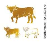 bull ancient emblems elements... | Shutterstock .eps vector #552360172