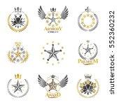 stars emblems set. heraldic... | Shutterstock .eps vector #552360232