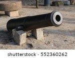 Antique Black Canon From Castl...