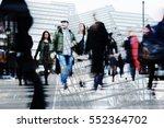 Multi Exposure Image Of Crowds...