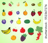 fruit set | Shutterstock .eps vector #552367276