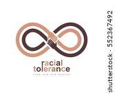 racial tolerance conceptual... | Shutterstock .eps vector #552367492