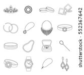 jewelry and accessories set... | Shutterstock .eps vector #552367642