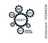 social relations conceptual... | Shutterstock .eps vector #552368236