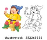the snow white and seven dwarfs.... | Shutterstock . vector #552369556