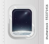 view from spaceship. flat... | Shutterstock .eps vector #552371416