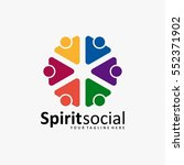 the best social logo icon full... | Shutterstock .eps vector #552371902
