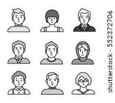 vector people icons set | Shutterstock .eps vector #552372706