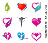 various colorful health care... | Shutterstock .eps vector #55237993