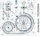 vector industrial and... | Shutterstock .eps vector #552383806