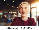 close up portrait of attractive ... | Shutterstock . vector #552384658