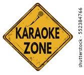 karaoke zone vintage rusty... | Shutterstock .eps vector #552384766
