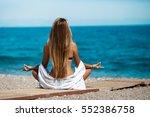 meditation yoga woman... | Shutterstock . vector #552386758