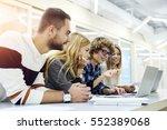 male and female international... | Shutterstock . vector #552389068