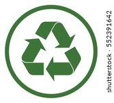 recicle arrow triangular sign... | Shutterstock .eps vector #552391642