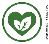 eco bio leaves in heart love... | Shutterstock .eps vector #552394192
