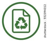 eco file paper reciclable bio... | Shutterstock .eps vector #552394312