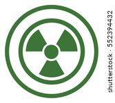 radiation radioactive sign... | Shutterstock .eps vector #552394432
