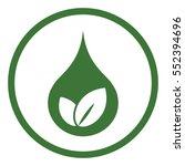 drop of water eco bio leaves... | Shutterstock .eps vector #552394696