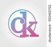 lowercase ck ring circle... | Shutterstock .eps vector #552403702