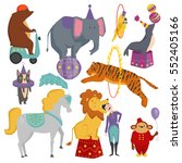 circus animals vector... | Shutterstock .eps vector #552405166