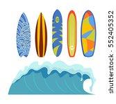 vector surfing boards. | Shutterstock .eps vector #552405352