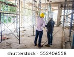 two business man construction... | Shutterstock . vector #552406558
