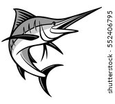 swordfish illustration | Shutterstock .eps vector #552406795