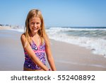 portrait of a young girl on the ... | Shutterstock . vector #552408892
