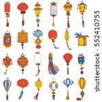 hand drawn set of different... | Shutterstock .eps vector #552410755
