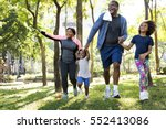 exercise activity family... | Shutterstock . vector #552413086