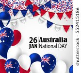 happy australia day with... | Shutterstock .eps vector #552415186