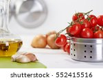 healthy food   drink italian...   Shutterstock . vector #552415516