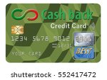 cash back credit card isolated... | Shutterstock . vector #552417472