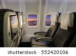 airplane seat and window inside ... | Shutterstock . vector #552420106