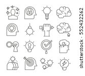creative and brain icons... | Shutterstock .eps vector #552432262