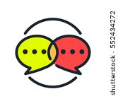 social chatting icon color | Shutterstock .eps vector #552434272