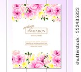 vintage delicate invitation... | Shutterstock .eps vector #552435322